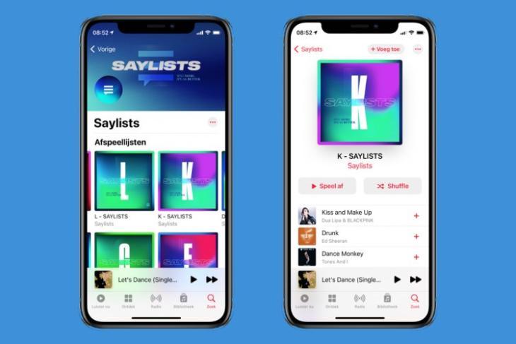 apple music saylists