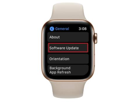 apple watch software update