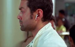 bobby deol wearing airpods in 2008
