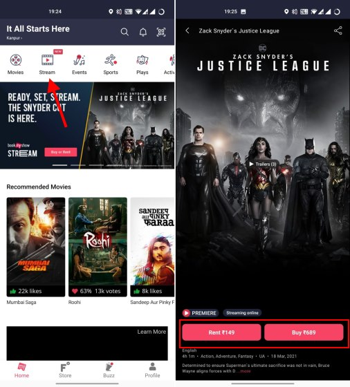 bookmyshow stream justice league snyder cut