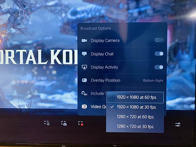 تغيير جودة البث-كيفية البث على Twitch من PS5
