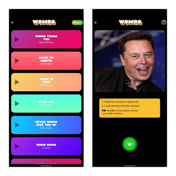 create wombo on phone