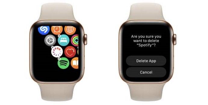 delete app - apple watch