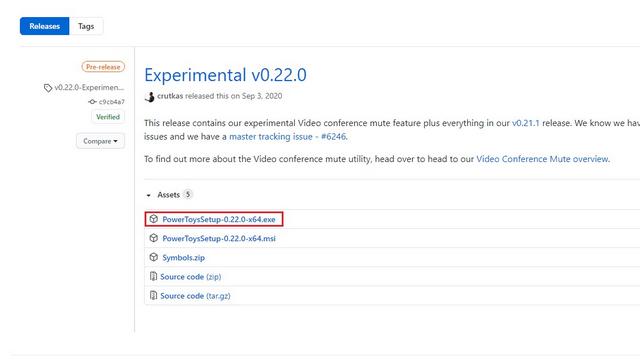 download powertoys 0.22 experimental