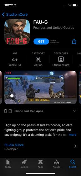 fau-g app store