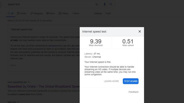 google hız testi