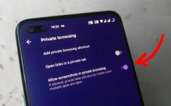 how to take screenshot in firefox private mode on Android