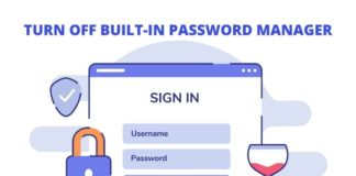 how to turn off built-in password manager in chrome, firefox, and edge