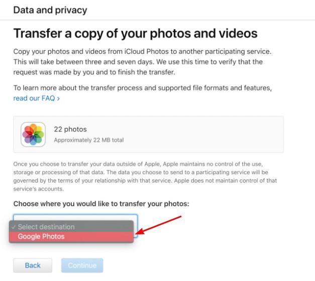icloud to google photos 2