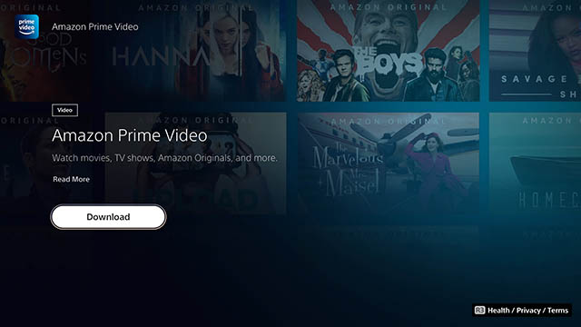 prime video playstation 5 app