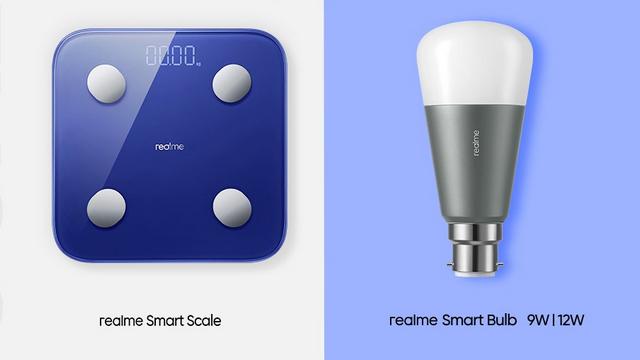 realme smart scale and smart bulb