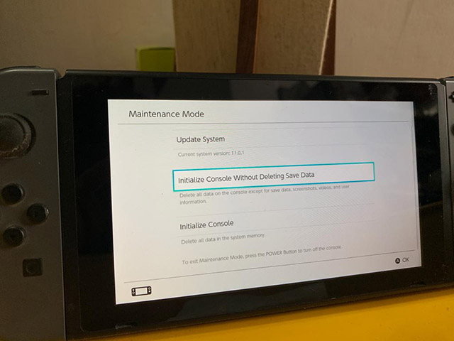 Nintendo-Schalter zurücksetzen, ohne Daten zu löschen