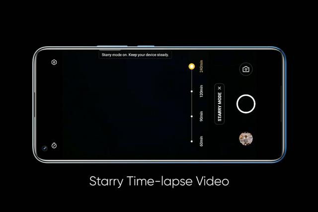 realme 8 pro starry timelapse video