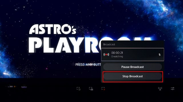 stop brodcast - stop ps5 game stream on Twitch