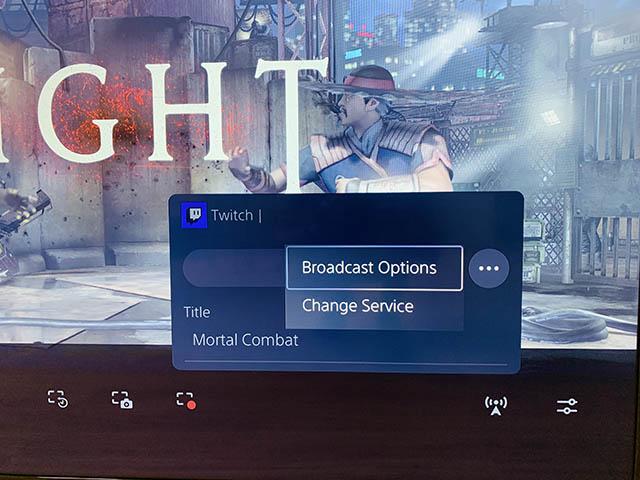 twitch broadcast options