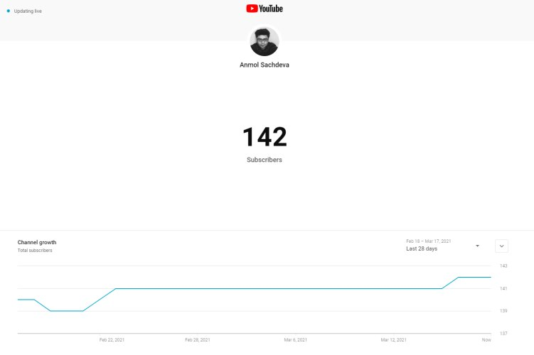 how to see real-time youtube subscriber count