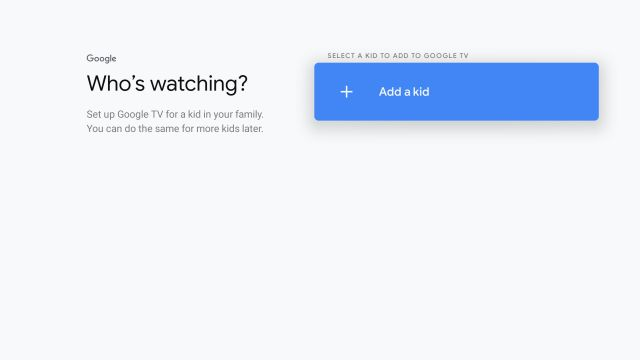 Add a Kid Profile on Google TV (2021)