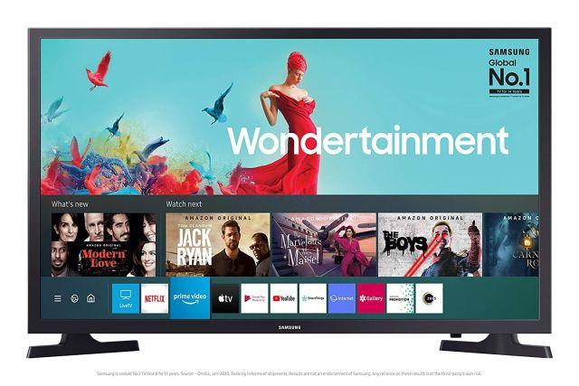 7. Samsung 32-inch Wondertainment HD Smart TV