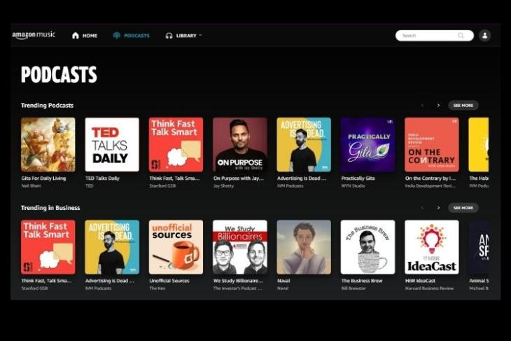 Amazon Podcast launches in India