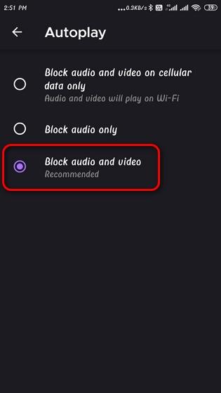 Disable Autoplay Videos on Mozilla Firefox