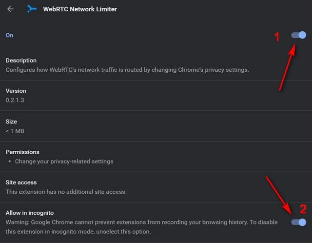 Отключить WebRTC в Chrome в Windows 10