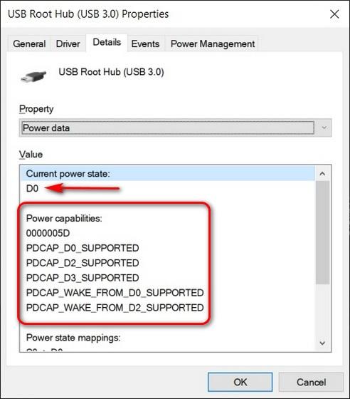 So überprüfen Sie die Ausgangsleistung von USB-Anschlüssen in Windows 10
