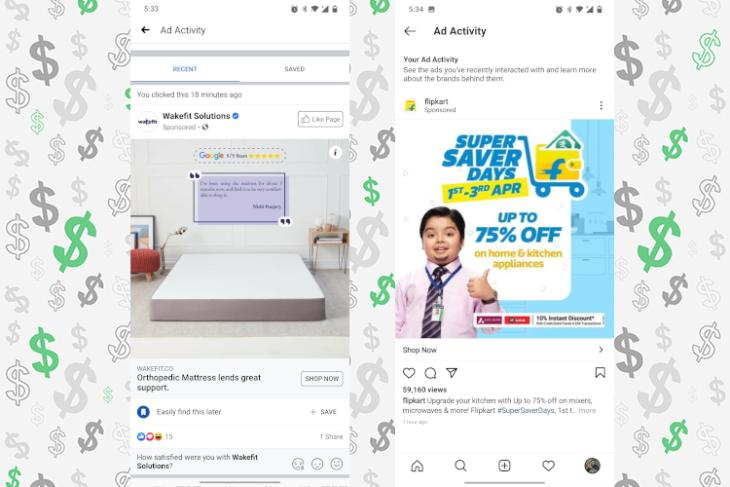 How to Find Recently Displayed Ads on Instagram and Facebook