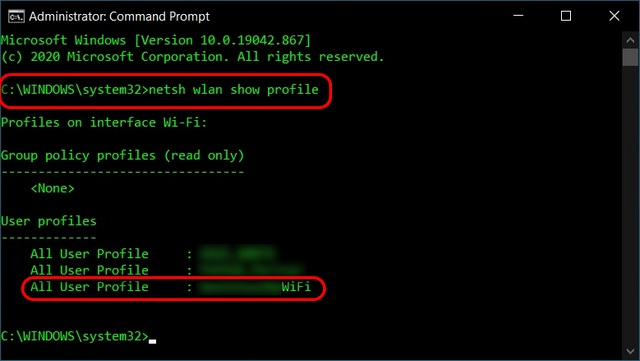 Find Wi-Fi Password Using Command Prompt in Windows 10