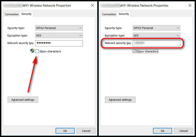 Find Wi-Fi Password Using Network Settings in Windows 10