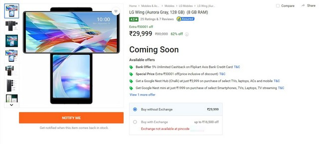 LG offers Rs 40,000 discount on LG Wing