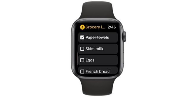 Notes app for Apple Watch