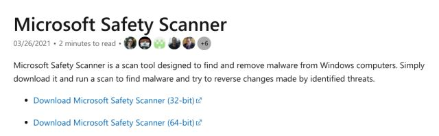 How to Use Microsoft Safety Scanner?