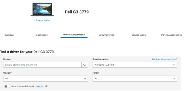 Dell Laptop Drivers for Windows 10
