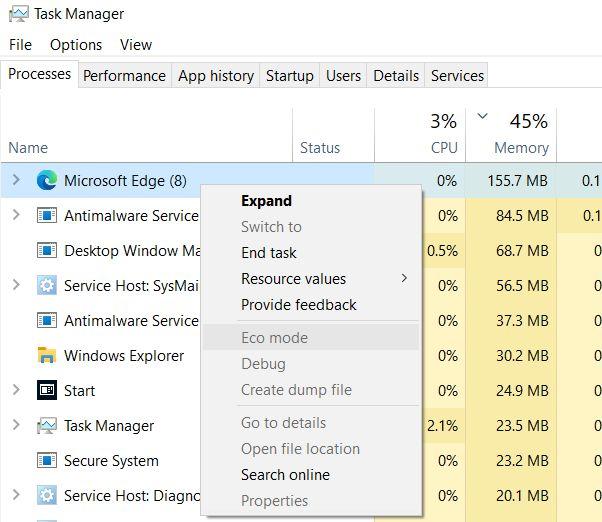 قم بتمكين الوضع الاقتصادي للتطبيقات على نظام التشغيل Windows 10