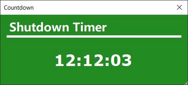 Shutdown Timer Classic: automatically shut down windows
