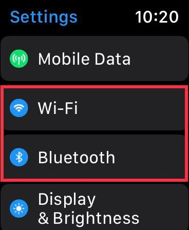 Turn off or on WiFi on Apple Watch