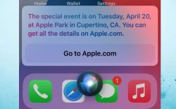 Siri reveals next Apple event to be held on April 20
