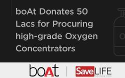 boat donates 50 lakhs