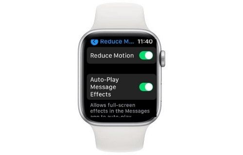Enable Reduce Motion on watchOS
