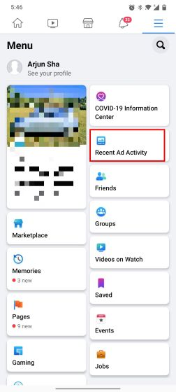 Find Recently Displayed Ads on Instagram and Facebook (2021)
