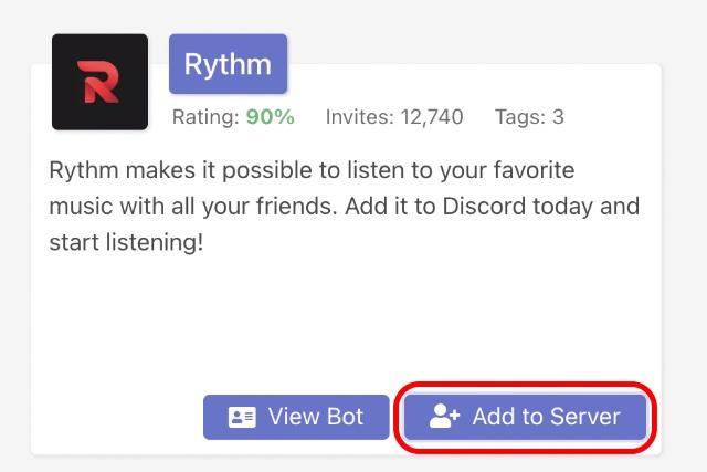 add bot to discord server