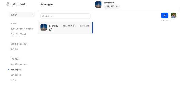bitclout messages