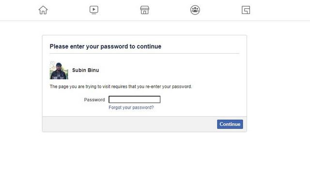 confirm password to delete