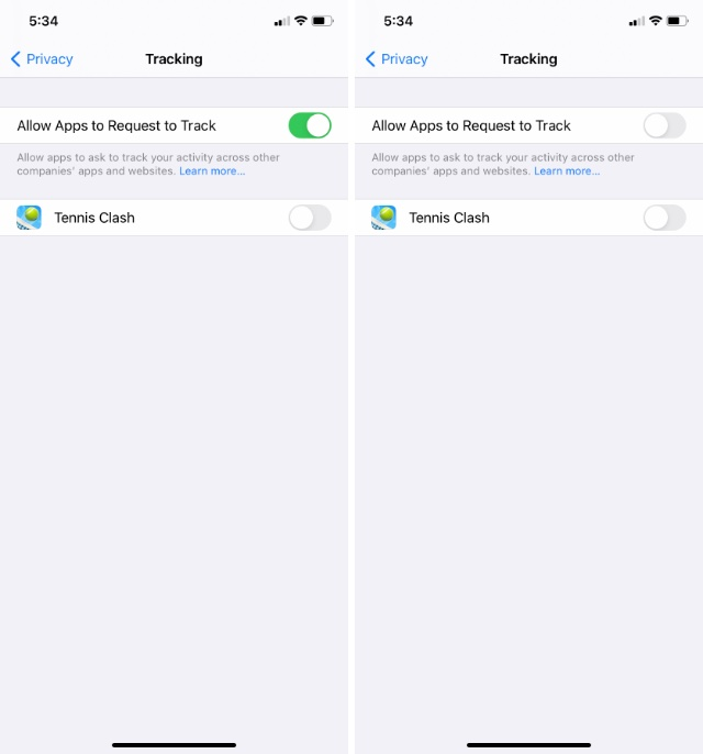disable app tracking