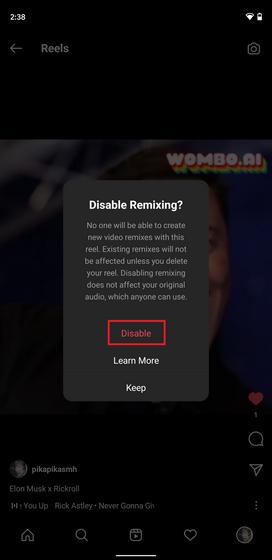 disable remix warning