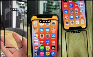 iPhone 13 smaller notch shown in images