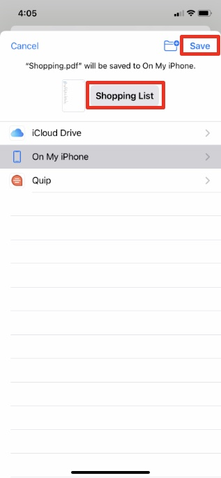 save reminders as pdf iphone step 3