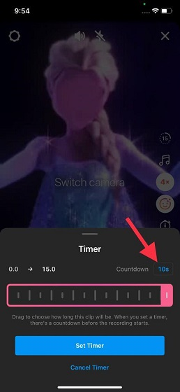 use timer Instagram Reels