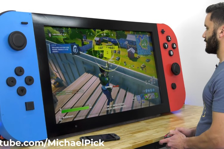 This YouTuber Built the World's Largest Functional Nintendo Switch Console
