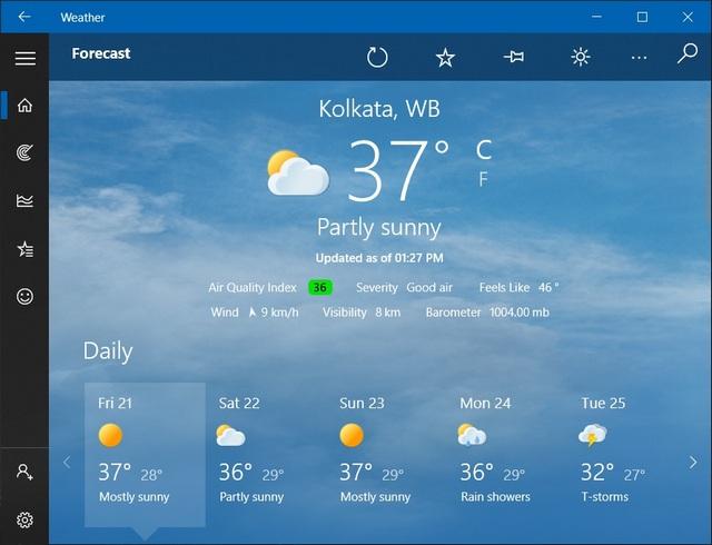 Weather: Best weather app on Windows 10
